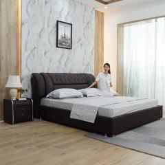 黛富妮之夜-艾居乐智享储物皮床1.5M(赠床头柜*2、床垫、蚕丝被、床单四件套)