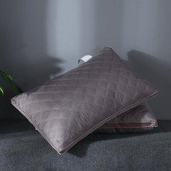 (代发)樵纪-透气网纱可水洗格囊线绗刺绣枕头芯*1只【尺寸:48*74cm】 无 多彩生活