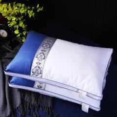 (代发)樵纪-全棉酒店撞色织带枕头芯*1只【尺寸:48*74cm】