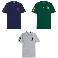 美国U.S.POLOASSN美式休闲T恤奢华组(休闲T恤*3) 无 M:170