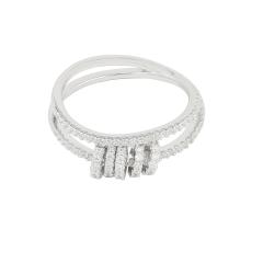 (代发)APM monaco-灵动圈圈穿孔戒指925银 无 50