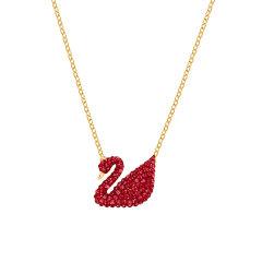 (代发)Swarovski施华洛世奇-限量款红色天鹅项链