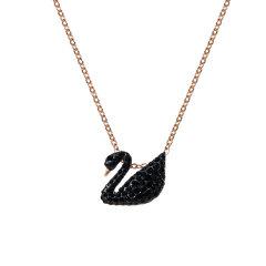 (代发)Swarovski施华洛世奇-时尚黑色天鹅项链女锁骨链小号