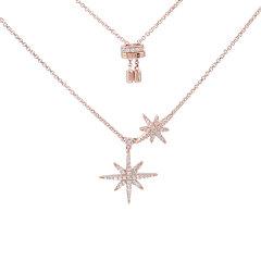 (代发)APM monaco-玫瑰金六芒星时尚饰品925银项链