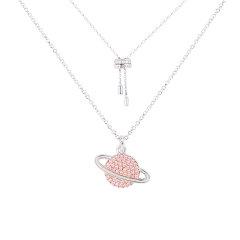 (代发)APM monaco-粉色星球时尚饰品首饰925银项链