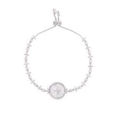 (代发)APM monaco-星星珍珠贝母手饰925银手链