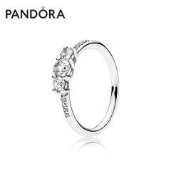 (代发)Pandora潘多拉-童话之光925银戒指指环礼物 无 50