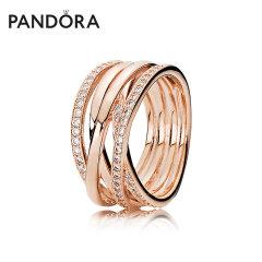 (代发)Pandora潘多拉-戒指女玫瑰金色交缠 无 50