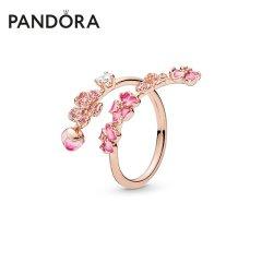 (代发)Pandora潘多拉-戒指女玫瑰金色漫漫桃花系列戒指 无 50