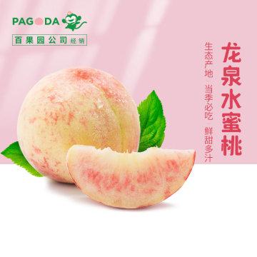(白菜送彩金网站大全)百果园公司-龙泉水蜜桃12个礼盒装【单果:160g以上、单箱净重:4-4.5斤】