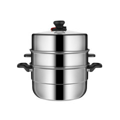 (代发)炊大皇-可调压多层不锈钢蒸锅(蒸锅、蒸屉、蒸片*2、锅盖)【型号:CK82466】
