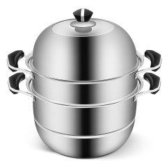 (代发)炊大皇-蒸旺不锈钢蒸锅(蒸锅、蒸屉、蒸片*2、锅盖)【型号:CK82008】
