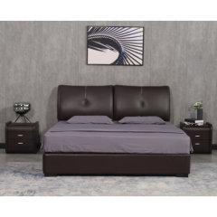 艾居乐平行气动皮床套组1.5M(赠床头柜*2、床垫*1)【床架:218*153*102cm】 米色