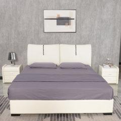 艾居乐平行气动皮床套组1.8M(赠床头柜*2、床垫*1)【床架:218*183*102cm】 米色