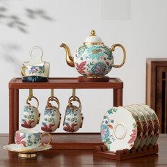 国瓷永丰源中秋礼·幸福满园18头茶咖具(赠茶具陈列架*1)