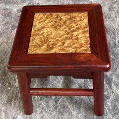 血檀金丝楠木富贵凳2张特惠组【尺寸:28*28*28cm】