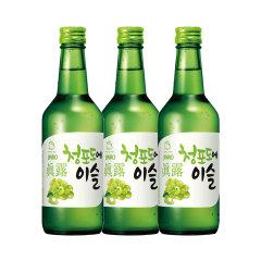 (代发)JINRO真露烧酒13°青葡萄味360ml*3