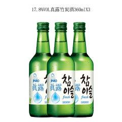 (代发)JINRO真露烧酒17.2°竹炭酒360ml*3