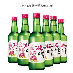(代发)JINRO真露烧酒13°李子味360ml*6