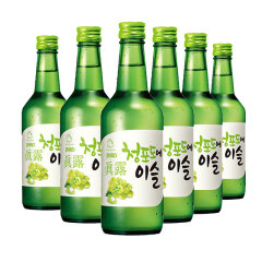 (代发)JINRO真露烧酒13°青葡萄味360ml*6