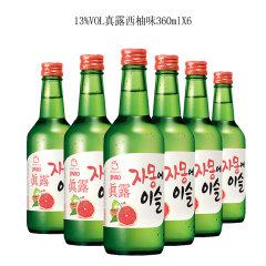 (代发)JINRO真露烧酒13°西柚味360ml*6