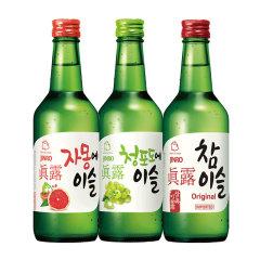 (代发)JINRO真露烧酒360ml*3瓶【20.1度+西柚汁+青葡萄】