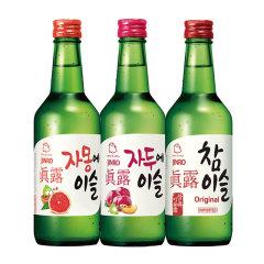 (代发)JINRO真露烧酒360ml*3瓶【20.1度+李子味+西柚汁】