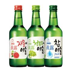 (代发)JINRO真露烧酒360ml*3瓶【17.2度+西柚汁+青葡萄】