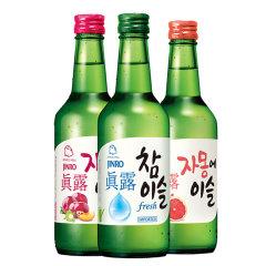 (代发)JINRO真露烧酒360ml*3瓶【17.2度+李子味+西柚汁】