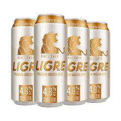 (代发)LIGRE麟阁-小麦啤酒白啤500ml*4听