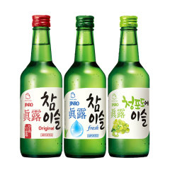 (代发)JINRO真露烧酒360ml*3瓶【20.1度+17.2度+青葡萄】