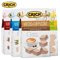 (代发)可意奇Crich-奶油威化饼干组合装125g*4袋