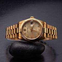格雷曼蚝式真钻机械腕表-周年纪念款(赠情侣对表、钻石戒指*1)
