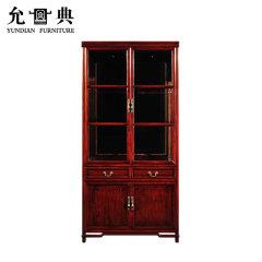 上海允典刺猬紫檀明式双门酒柜【长100cm、宽35cm、高205cm】