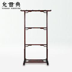 上海允典刺猬紫檀明式衣架【长85cm、宽38cm、高150cm】