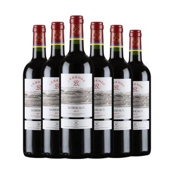 法国进口拉菲传奇波尔多经典海星赤霞珠干红葡萄酒6支尊享组