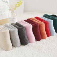 (代发)羊毛袜女纯色中筒袜MR5023-5 无 组合一:浅灰+白色+绿色+粉色+酒红