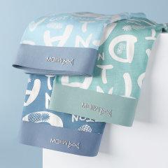 (代发)莫代尔抗菌纯棉冰丝四角内裤MR8029-3 无 L、组一:深蓝+宝蓝+浅灰