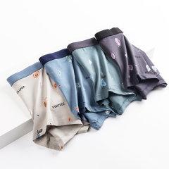 (代发)内裤纯棉裆平角裤无平角裤MR8015-4 无 L