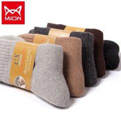 (代发)5双羊毛袜冬毛巾袜袜子MR2012-5