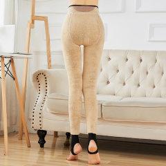 (代发)超厚打底裤女加绒保暖裤棉裤发热打底袜MR6026-1 无 粉色(西瓜裆)