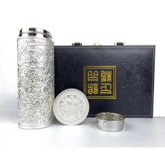 九龙纳福鎏银健康杯尊享组(银杯*1、赠银杯*1)
