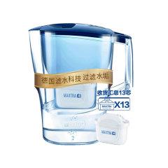 碧然德(Brita) 净水壶 净水器 光汐蓝色3.5升一壶13芯