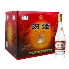 汾酒 玻汾 53度 黄盖汾 475mL*12瓶整箱装 清香型