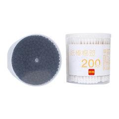 利得利得双头螺旋纸棒棉签黑白双色800头400支装美容护理清洁棉棒
