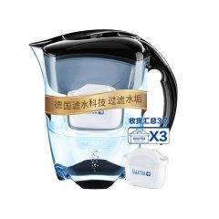 碧然德 Brita 净水器 净水壶 Elemaris 探索者黑色 3.5升 一壶三芯