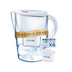 碧然德 Brita 净水器 净水壶 海洋白色 3.5升 一壶六芯