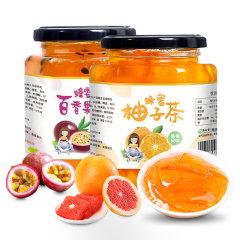 酥田系列蜂蜜柚子茶百香果茶组合