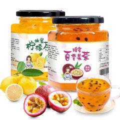 酥田系列蜂蜜柠檬茶百香果茶组合