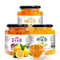酥田系列蜂蜜柚子茶百香果茶柠檬茶3种口味组合